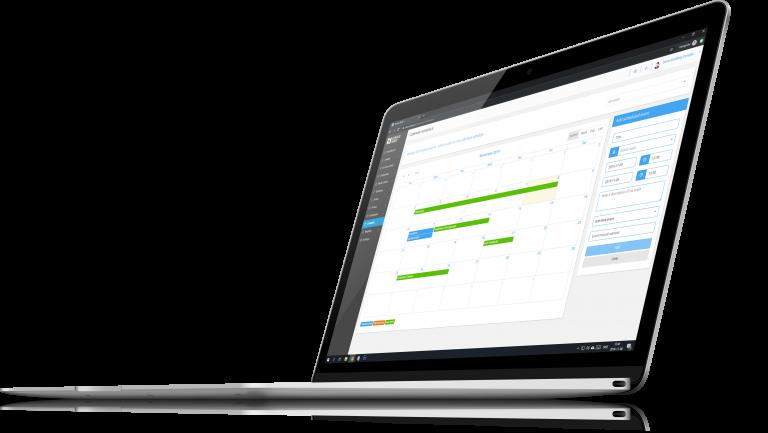 Computer with screenshot of service node service planer